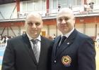 z leva Bronislav Puzrla (organizátor turnaje) a Jaromír Musil (hlavní rozhodčí turnaje)