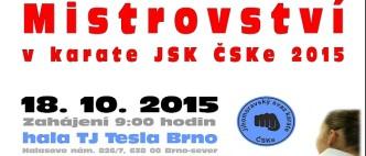 Plakát v Mistrovství JMK v karate JSK ČSKe 2015- oprava - small